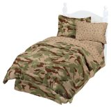 Boys Desert Storm Style Camouflage Bed In Bag
