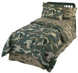 Boys Boot Camp Green Camo Print Bed in a Bag Set